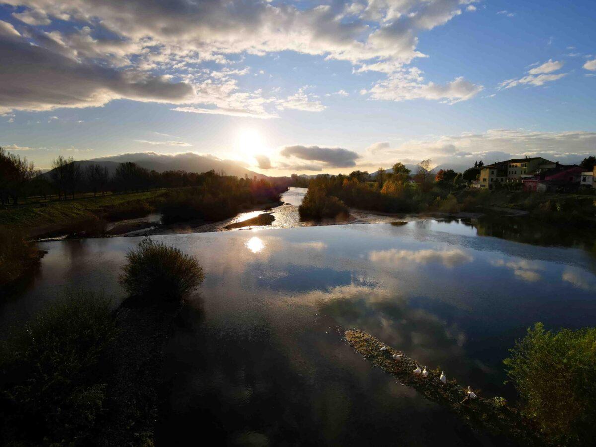 Il-Parco-fluviale-del-Serchio-al-tramonto