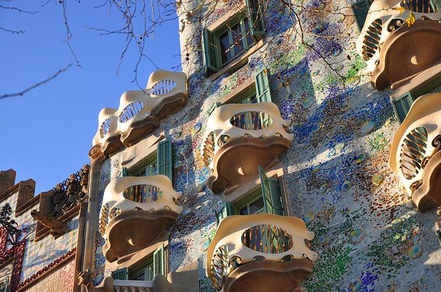 Casa Batlló Gaudí Barcellona Foto di Pcsfish da Pixabay