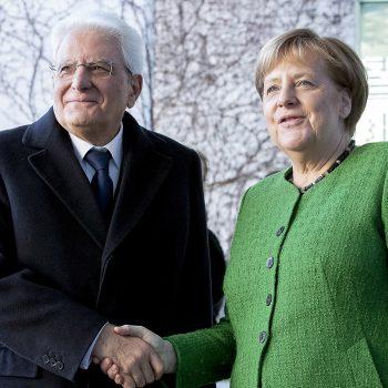 Berlino - Il Presidente della Repubblica Sergio Mattarella con la Cancelliera Angela Merkel, oggi 18 gennaio 2019. (Foto di Paolo Giandotti - Ufficio per la Stampa e la Comunicazione della Presidenza della Repubblica)